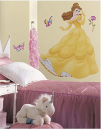 Belle Giant Wall Decal