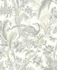 Bird Toile Wallpaper