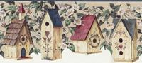 Birdhouses Wallpaper Border