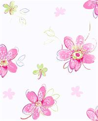 Girls Floral Toile