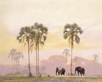 Elephant Walk - Wall Mural