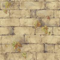 English Brick & Ivy Wallpaper