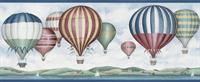 Hot Air Balloons Wallpaper Border