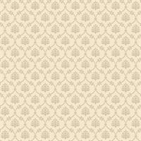 Mini Ogee Damask Solid Wallpaper