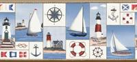 Nautical Collage Wallpaper Border