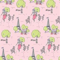 Paris Print Wallpaper