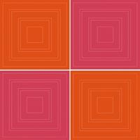 Pink/Orange Square Stickers