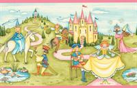 Princess and Castle Wallpaper Border