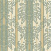 Sueded Large Damask Wallpaper