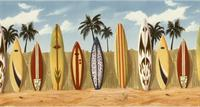 Surf Boards - Wallpaper Border