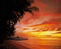 Tobago Sunset - Wall Mural