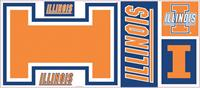 University of Illinois Giant Peel & Stick Wall Decals