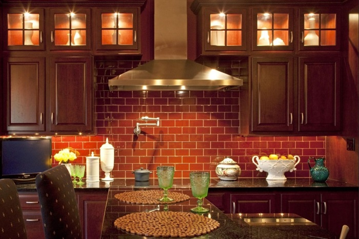 Brick Wallpaper in Kitchen