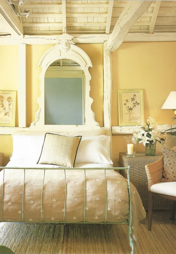 Bedroom With Yellow Wallpaper
