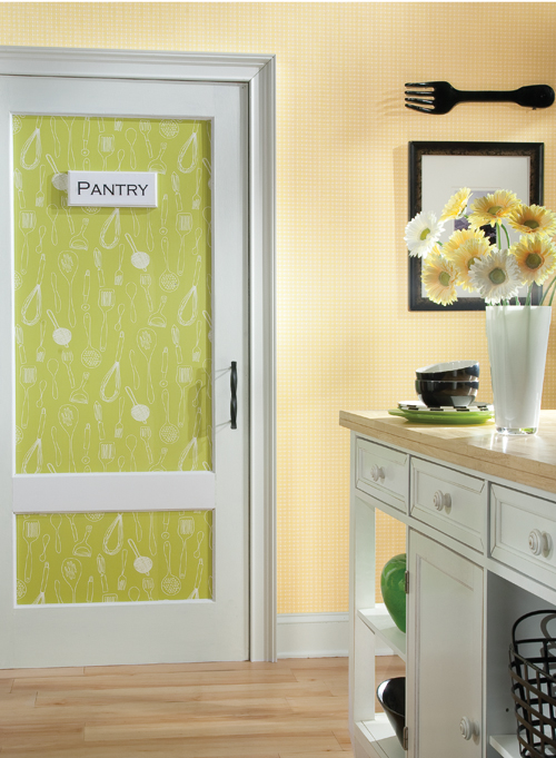 Yellow Wallpaper In Kitchen
