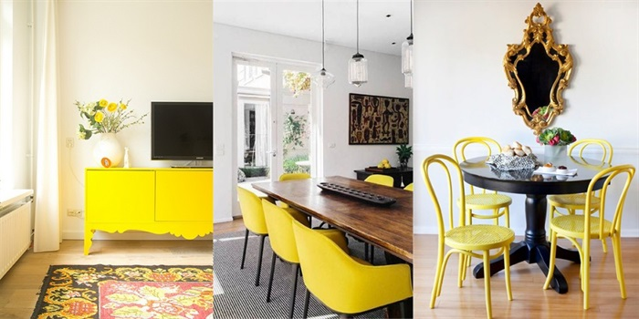 Add Dashes Of Yellow For Quick Pops of Color