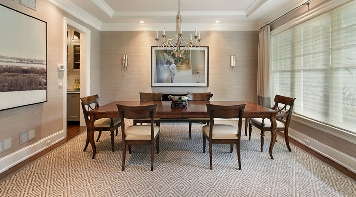 Faux Grasscloth In Dining Room