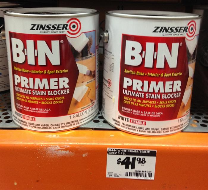 BIN Shellac Based Primer Home Depot