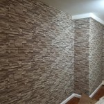 Faux Stone Wallpaper Makeover