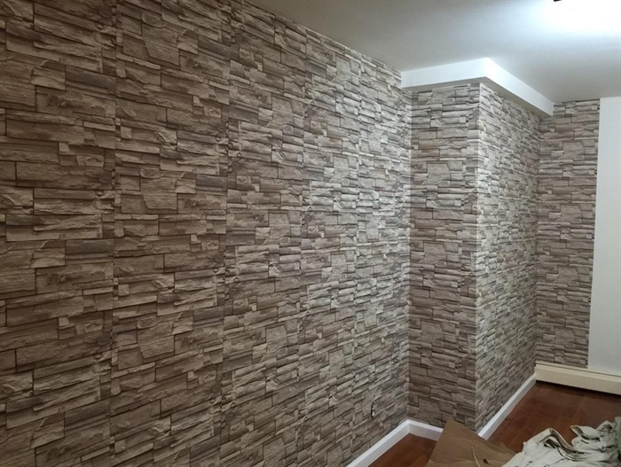 faux stone brick wallpaper - photo #30