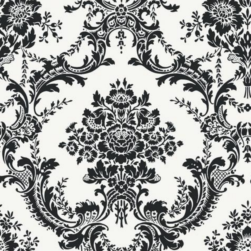 Black And White Wallpaper Damask