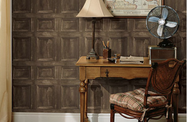 Fabulous Faux Wood Wallpaper