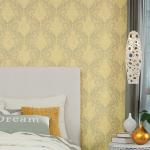 bedroom wallpaper yellow gold
