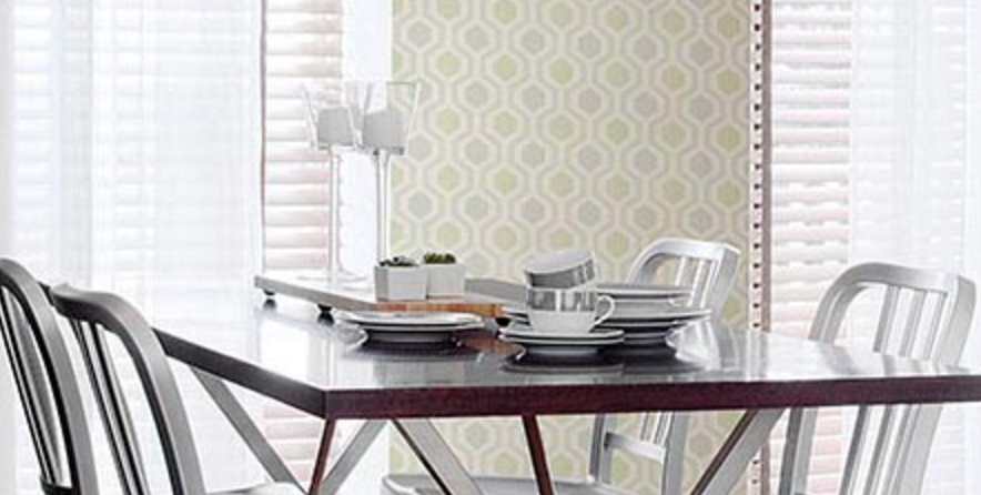 Contemporary Kitchen Wallpaper With Geometric Design Totalwallcovering