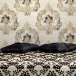 damask wallpaper crushed velvet