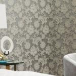 metallic floral wallpaper
