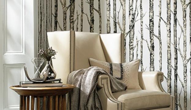 birch trees modern wallpaper