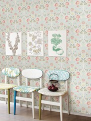 1014-001806 Willow Nouveau Floral Wallpaper