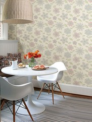 1014-001811 Maisie Batik Flower Wallpaper