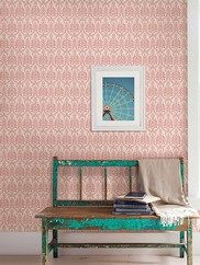 1014-001816 Waverly Petite Damask Wallpaper