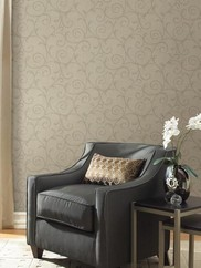 2446-83549 Textured Scroll Wallpaper