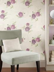 2532-20451Venetia Vintage Rose Toss Wallpaper