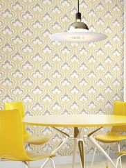 2535-20601 Yellow Lola Ogee Bargello Wallpaper