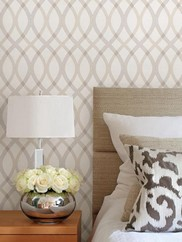 2535-20667 Grey Contour Geometric Lattice Wallpape