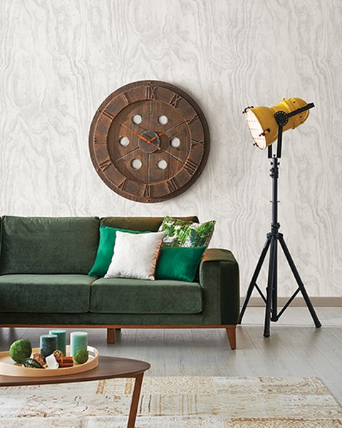Bentham Dove Plywood Wallpaper