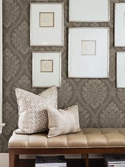 2614-21040 Amarissa Jacquard Damask Wallpaper