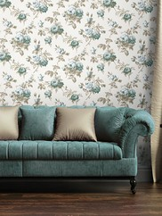 2668-21541 Charlotte Vintage Rose Toss Wallpaper