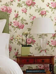 2668-21542 Charlotte Vintage Rose Toss Wallpaper