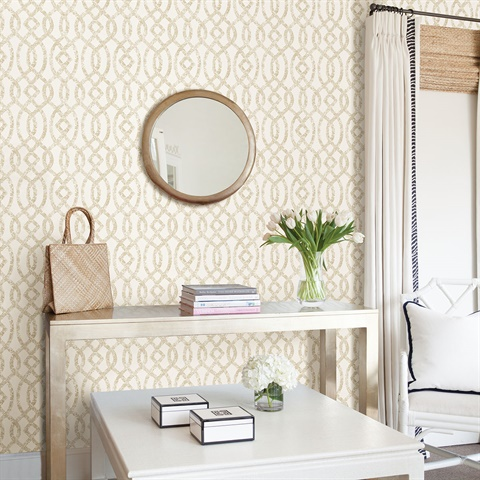Ethereal Bronze Trellis Wallpaper