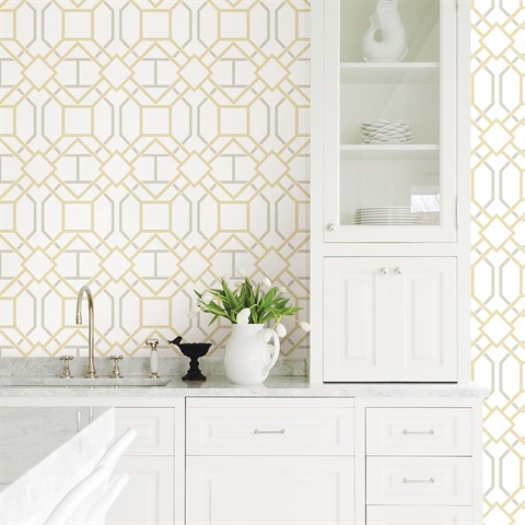2809-87706 Dauphin Lattice Wallpaper