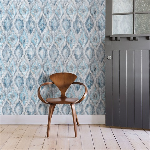 2809-SH01104 Gilboa Ikat Wallpaper