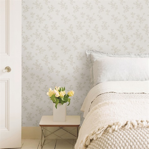 2811-LV04200 Pothos Ivory Toss Wallpaper