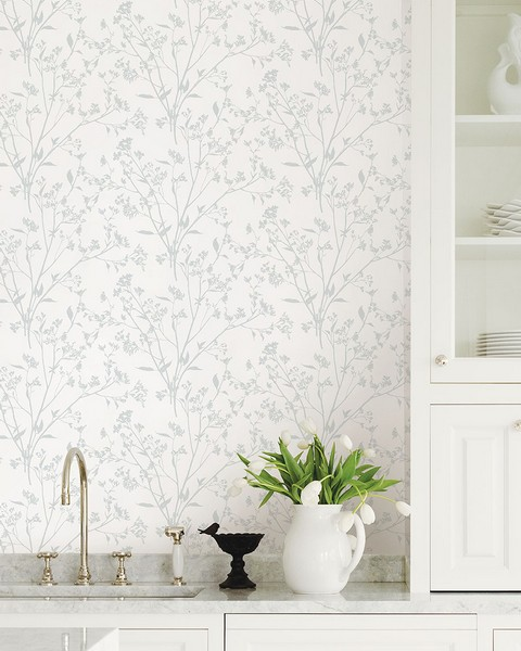 2927-80708 Southport Light Grey Delicate Branches Wallpaper