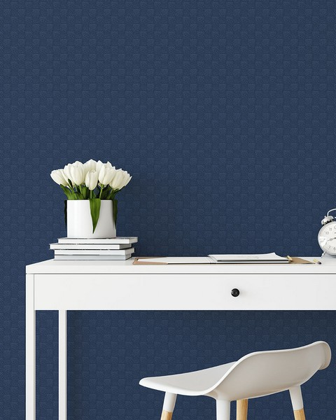 2927-80802 Calabash Navy Rope Basketweave Wallpaper