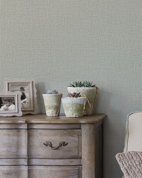 2927-81008 Marblehead Taupe Crosshatched Grasscloth Wallpaper