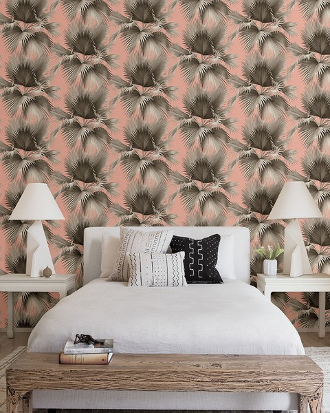 2927-81901 Summer Palm Blush Tropical Wallpaper